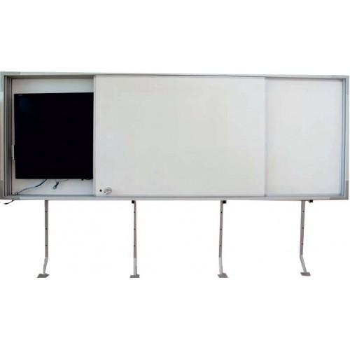 Бяла дъска с място за вграждане на дисплей - Акварел | Канцеларски материали за офиса и училището