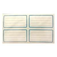 Етикети за тетрадка, ученически, самозалепващи се, бели 10 л. х 4 бр.