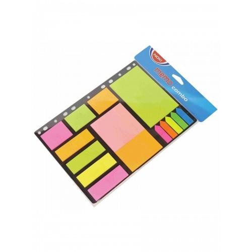 Самозалепващи листчета, NOKI Memo Combo, 12700 - Акварел | Канцеларски материали за офиса и училището