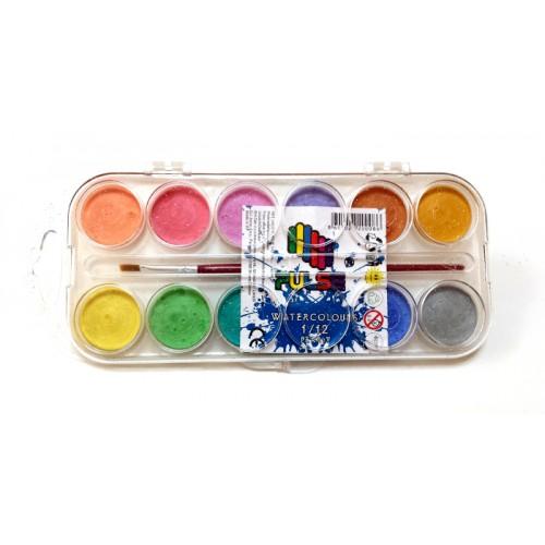 Водна боя Pulse 20008 Ф30 12 цвята - Канцеларски материали за офиса и училището | Акварел