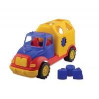 Пластмасово камионче с интерактивни фигурки - 30 см.