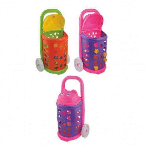 Детска пазарска количка, интерактивна, пластмасова. - 55 см. - Канцеларски материали за офиса и училището | Акварел