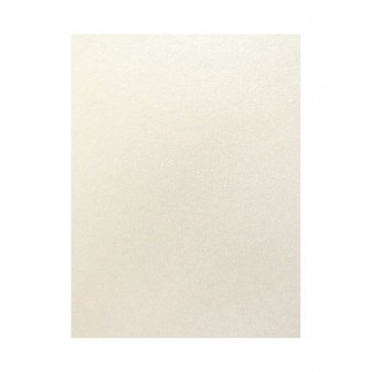 Цветен картон перла 50 х 70 см., 160 гр. цвят бял Satin, модел 102