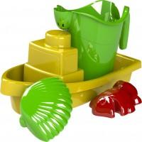 Комплект за пясък лодка + лейка + 2 фигурки B - 1003