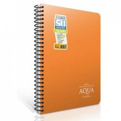 Водоустойчива тетрадка GIPTA AQUA NEON А5 80 листа, спирала PP корица - Канцеларски материали за офиса и училището | Акварел
