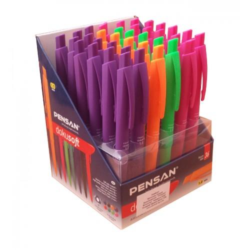 Дисплей с автоматични химикали Pensan Dokusoft 4500/S цветни 36 бр. - Канцеларски материали за офиса и училището | Акварел