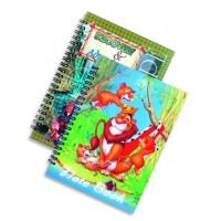 Тетрадка Aquarel Collection, B5, 120 листа, спирала, PVC корица, речник