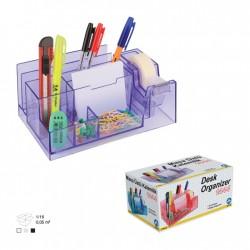 Поставка / органайзер за бюро ARK 1444 пластмасова прозрачна с тиксорез - Канцеларски материали за офиса и училището | Акварел