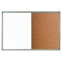 Комбинирана дъска / алуминиева и коркова / 60 x 90 см - Канцеларски материали за офиса и училището | Акварел