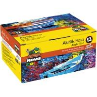 Акрилни бои 12 цвята, NOVA COLOR 179