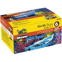 Акрилни бои 6 цвята, NOVA COLOR 180