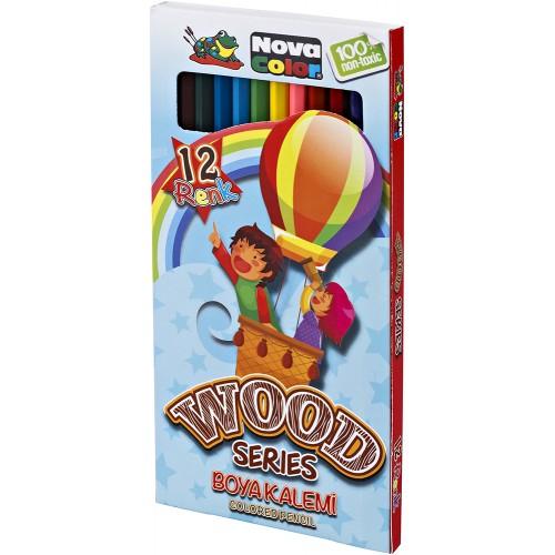 Цветни моливи NOVA COLOR 12 цвята дълги 402 - Акварел | Канцеларски материали за офиса и училището