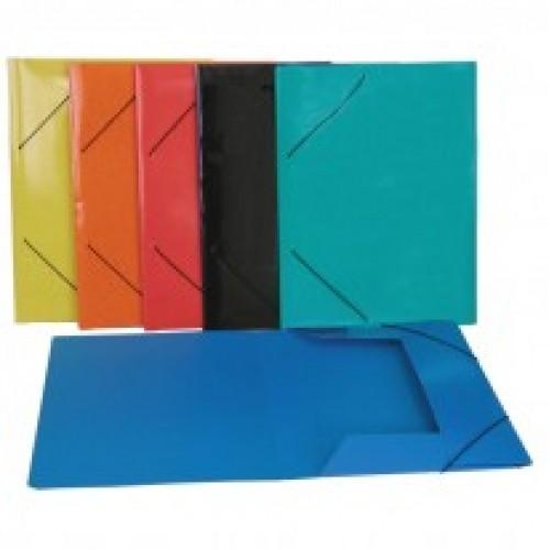 Картонена папка с ластик,с три капака, А4 - Канцеларски материали за офиса и училището | Акварел