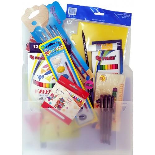 Комплект ученически пособия за първи клас - Канцеларски материали за офиса и училището | Акварел