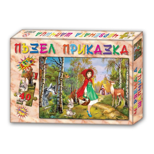 Пъзел детски, приказки- 40 елемента в кутия