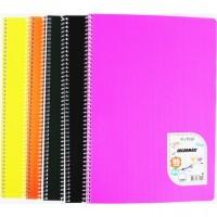 Тетрадка CINAR А4 голям формат, ред, офсет, 96 листа, спирала