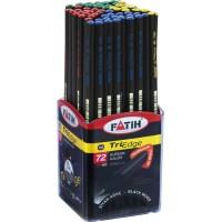 Молив триъгълен HB черна дървесина FATIH Triedge модел 17500 SB - 5 мм