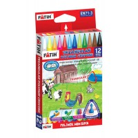Пастели FATIH TRIANGULAR полимерни 12 цвята