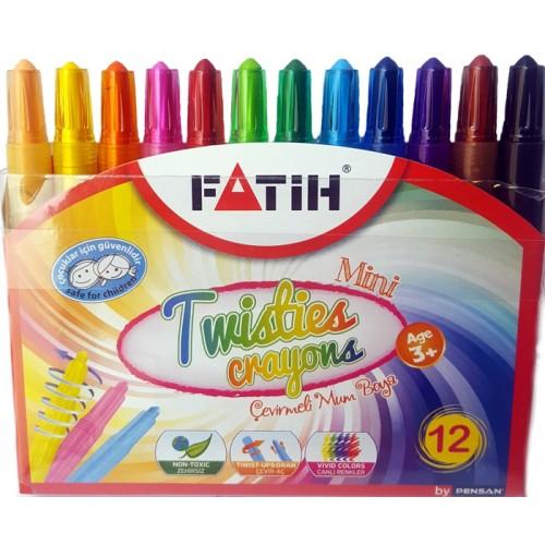Пастели Fatih Twisties 12цв. 50240 - Канцеларски материали за офиса и училището | Акварел