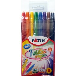 Пастели Fatih Twisties 8цв. 50235 - Канцеларски материали за офиса и училището | Акварел