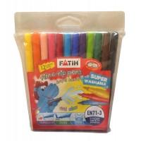 Флумастери FATIH Eco 12 цвята