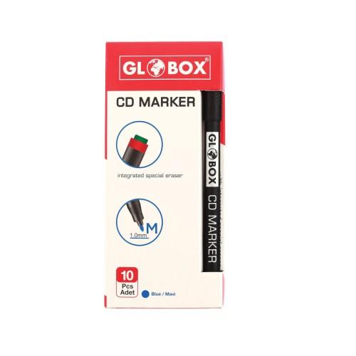 Маркер за CD DVD GLOBOX 6271, 1 мм, с гума - Акварел | Канцеларски материали за офиса и училището