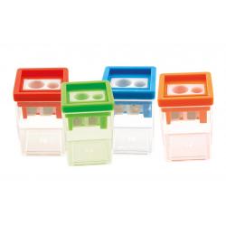 Острилка GLOBOX 6251 с два отвора - 7 и 12 мм. с контейнер - Канцеларски материали за офиса и училището | Акварел