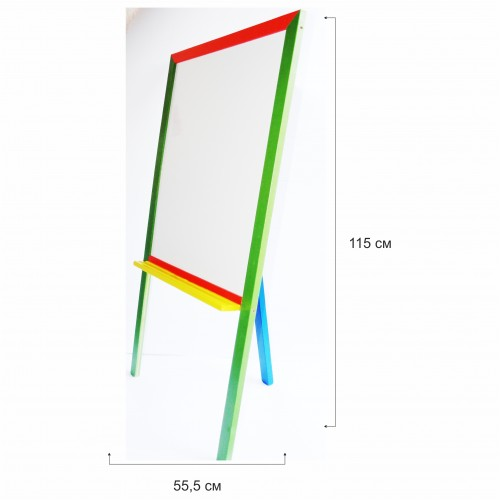 Бяла дървена дъска с цветна рамка - Акварел | Канцеларски материали за офиса и училището
