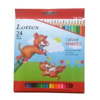 Цветни моливи LOTTEX 24 цвята
