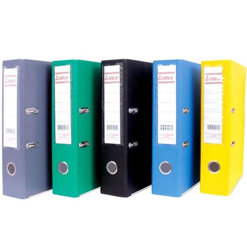 Класьор за документи с лайсна Lottex размер 7 см. гръб с 2 рингов механизъм - Канцеларски материали за офиса и училището | Акварел