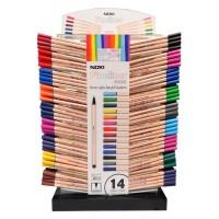 Дисплей с тънкописци NOKI Fineliner модел 6066, 14 цвята и дебелина 0.4 мм. / 540 бр. /