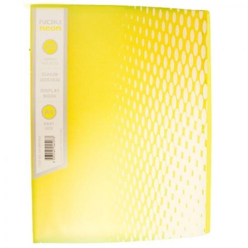 Папка NOKI NEON с 20 джоба, PVC - Акварел | Канцеларски материали за офиса и училището