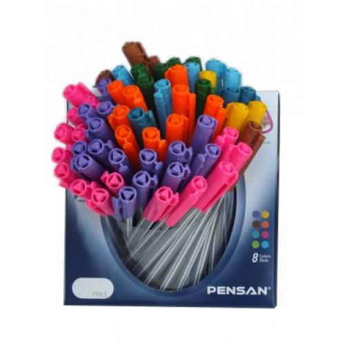 Дисплей химикал PENSAN Triball 1003 - 60 бр. 8 цвята - микс - Канцеларски материали за офиса и училището | Акварел