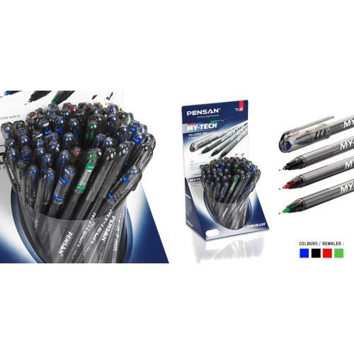 Дисплей химикали PENSAN MY-TECH 2240 - 4 цвята, 60 бр. 0.7 мм - Канцеларски материали за офиса и училището | Акварел