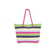 Плажна чанта PULSE CAPARICA GREEN-PINK X20950 - шарена