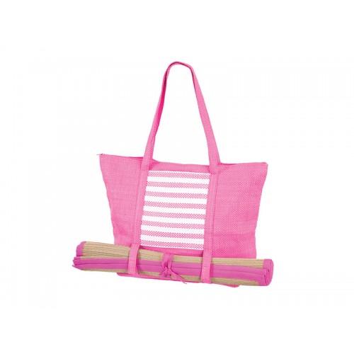 Плажна чанта PULSE DUBROVNIK LIGHT PINK X20938 - розова + рогозка - Канцеларски материали за офиса и училището | Акварел