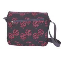 Чанта за през рамо MUSIC HEART X20370 с основно и лицево отделение