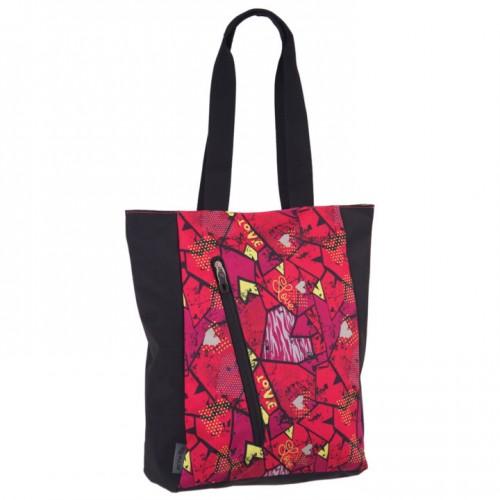 Дамска чанта PULSE COTS SQUARE HEART X21066 с три отделения, шарена - Канцеларски материали за офиса и училището | Акварел