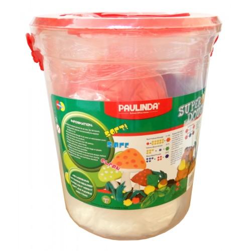 Тесто за моделиране Paulinda Super Dough 5 цвята х 200 гр. 1000 гр. - Канцеларски материали за офиса и училището   Акварел