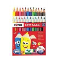 Цветни моливи FATIH 12 цвята къси