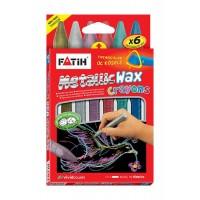 Пастели FATIH METALLIC восъчни 6 цвята