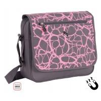 Чанта PULSE PINK CONFUSION X20550 с едно основно, едно лицево и едно задно отделени
