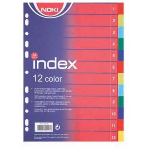 Разделител Noki PVC 2 х 6 цвята - Канцеларски материали за офиса и училището | Акварел