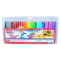 Флумастери KOH-I-NOOR 24 цвята