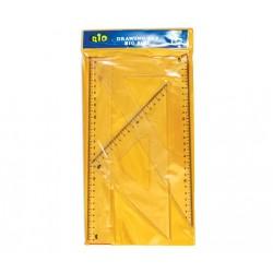 Комплект за чертане RIO 405, 1 линия, 2 триъгълника - Канцеларски материали за офиса и училището | Акварел