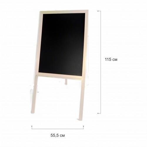 Черна дървена дъска с рамка натурал