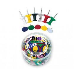 Офис комплект Rio 1403 кабъри и пинчета цветни - Канцеларски материали за офиса и училището   Акварел