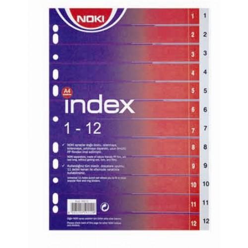 Разделител Noki PVC 1-12 - Канцеларски материали за офиса и училището | Акварел