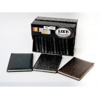 Тефтер LIZY, 14 x 20 см, 96 листа, лепен гръб, твърда корица