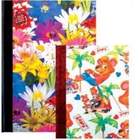 Тетрадка Aquarel Collection, A4, 200 листа, лепен гръб, твърда корица